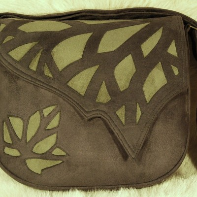 no_014_large_ivy_leaf_bag_slate_gray_with_light_green_inlay_cutwork